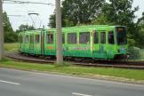 Hannover articulated tram 6196 on tram line 1 at the terminus Laatzen (2010).