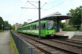 Hannover articulated tram 6203 on tram line 5 at the terminus Stöcken (2008).