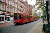 Hannover articulated tram 6212 on tram line 10 at the stop Leinaustraße (2006).