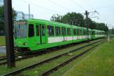 Hannover articulated tram 6235 on tram line 7 the old terminus Paracelsusweg (2010).