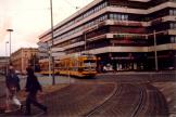 Hannover party line 18 in the square Thielenplatz (1986).