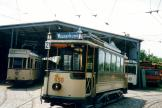 Hannover railcar 202 in front of the depot Museumsbahnen Schönberger Strand (2003).