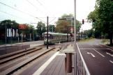 Hannover tram line 6 at the stop Freundallee (2000).