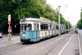 Heidelberg articulated tram 243 on tram line 24 at the stop Jahnstraße (2003)