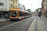 Heidelberg low-floor articulated tram 3284 on tram line 24 at the stop Rohrbach Markt (2014)