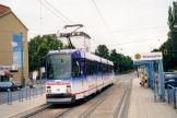 Kassel articulated tram 401 on tram line 6 at the stop Weserpitze (2003)