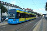 Kassel low-floor articulated tram 609 on tram line 7 at the stop Lutherplatz (2010)