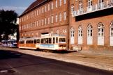 Kiel railcar 242 on tram line 4 at the terminus Fähre Holtenau (Schleusenstraße) (1981)
