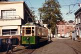 Lille museum tram 432 in front of the depot Saint Maur (1981).
