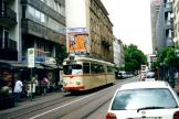 Ludwigshafen articulated tram 126 on tram line 11 at the stop Ludwigsstraße (2003)