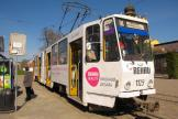 Lviv articulated tram 1129 on tram line 6 at the stop Prymiskyi vokzal (2011)