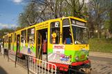 Lviv articulated tram 1139 on tram line 2 at the stop Vul. Pidvalna (2011)