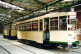 Magdeburg railcar 70 at the museum Museumsdepot Sudenburg (2003).