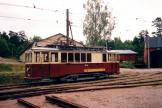 Malmö service vehicle 1342 on the side track at Museispårvägen Malmköping (1995).