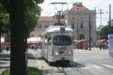 Mannheim articulated tram 917 on Zagreb tram line 13 in the square Trg kralja Tomislava (2008).