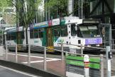 Melbourne articulated tram 2061 on tram line 86 on Williams Street (2011)