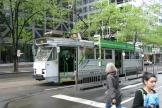 Melbourne railcar 165 on tram line 55 at the stop Bourke Street (2011)