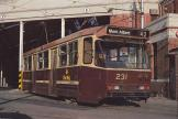 Melbourne railcar 231 in front of the depot Kew Depot (1991)