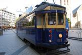 Melbourne railcar 441 on Christchurch restaurant line Tram Restaurant at the terminus Cathedral Junction, front view (2011)