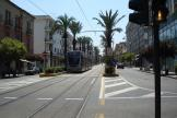 Messina low-floor articulated tram 05T on tram line 28 in the square Piazza Cairoli (2009)