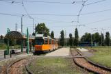 Milan articulated tram 4952 on tram line 24 at the terminus Vigentino (2009)