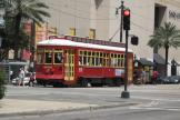 New Orleans railcar 2003 on tram line 47 Canal Streetcar near Port of New Orleans (2010)
