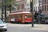 New Orleans railcar 2003 on tram line 47 Canal Streetcar on Canal street (2010)