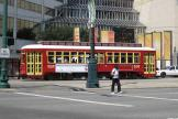 New Orleans railcar 2003 on tram line 48 Canal Streetcar near The Shop of Canal (2010)