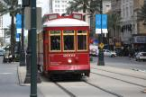 New Orleans railcar 2009 on tram line 47 Canal Streetcar on Canal street (2010)