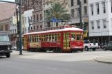 New Orleans railcar 2012 on tram line 47 Canal Streetcar on Canal street (2010)