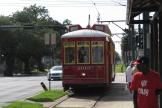 New Orleans railcar 2013 on tram line 47 Canal Streetcar at the stop Canal at Carrollton (2010)