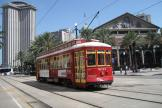 New Orleans railcar 2013 on tram line 47 Canal Streetcar on Canal street (2010)