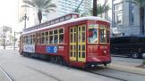 New Orleans railcar 2016 on tram line 47 Canal Streetcar on Canal Street (2018)