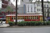 New Orleans railcar 2017 on tram line 47 Canal Streetcar on Canal street (2010)