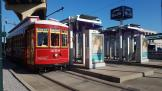 New Orleans railcar 2018 on tram line 49 Loyola/UPT at the terminus Union Passenger Terminal (UPT) (2018)