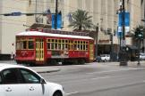 New Orleans railcar 2019 on tram line 47 Canal Streetcar on Canal street (2010)