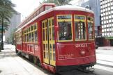 New Orleans railcar 2021 on tram line 48 Canal Streetcar on Canal street (2010)