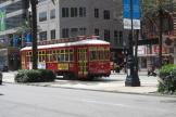 New Orleans railcar 2023 on tram line 47 Canal Streetcar on Canal street (2010)