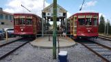New Orleans railcar 457 on tram line 2 Riverfront at the stop Dumaine St. (2018)