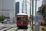 New Orleans railcar 459 on tram line 2 Riverfront at the stop Julia Station (2010)