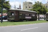 New Orleans railcar 903 on tram line 12 St. Charles Streetcar on Howard Avenue (2010)