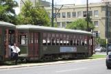 New Orleans railcar 911 on tram line 12 St. Charles Streetcar on Howard Avenue (2010)