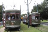 New Orleans railcar 932 on tram line 12 St. Charles Streetcar at the terminus S. Claiborne Avenue (2010)