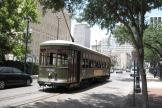 New Orleans railcar 932 on tram line 12 St. Charles Streetcar on St Charles Avenue (2010)