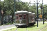 New Orleans railcar 951 on tram line 12 St. Charles Streetcar at the terminus S. Claiborne Avenue (2010)