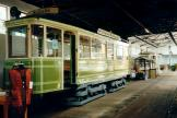 Nuremberg railcar 144 at the museum Historische Straßenbahndepot St. Peter (1998).