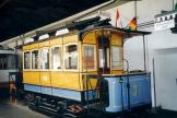 Nuremberg railcar 3 at the museum Historische Straßenbahndepot St. Peter (1998).