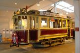 Odense railcar 12 at the museum Jernbanemuseumet Odense, seen from the side (2011).