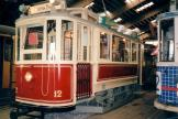 Odense railcar 12 inside the depot Remise 1 (1998).