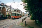 Ostend articulated tram 6103 on Charleroi tram line 82 at the stop Rue de la Station, Anderlues (2007)